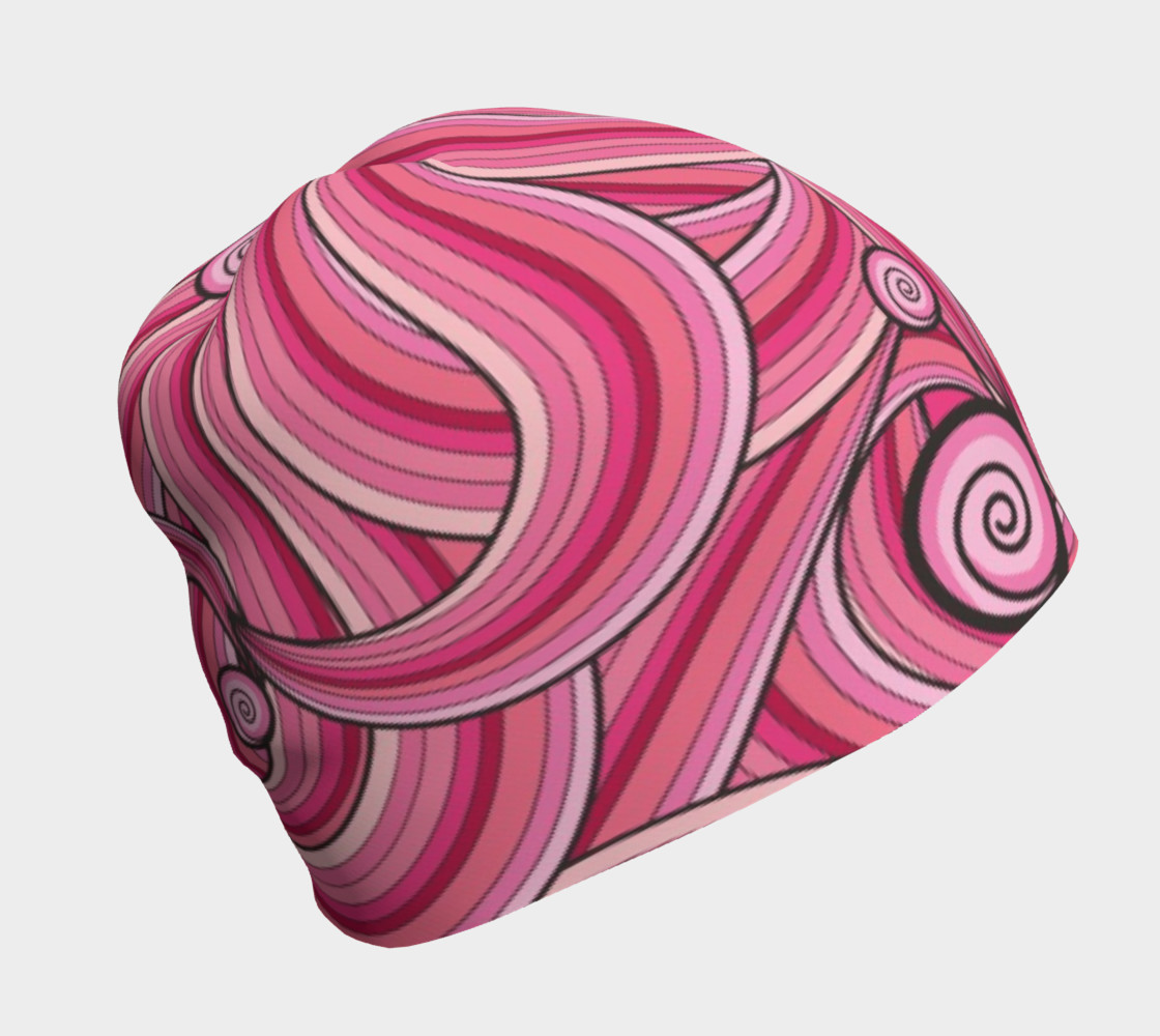 Pink Cotton Candy Swirl beanie preview #1