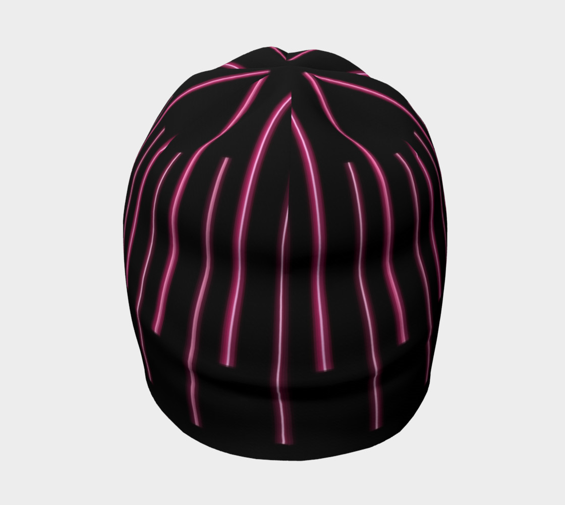 Pink Neon Lines Beanie preview #4