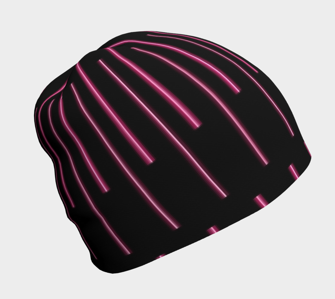 Pink Neon Lines Beanie preview #1