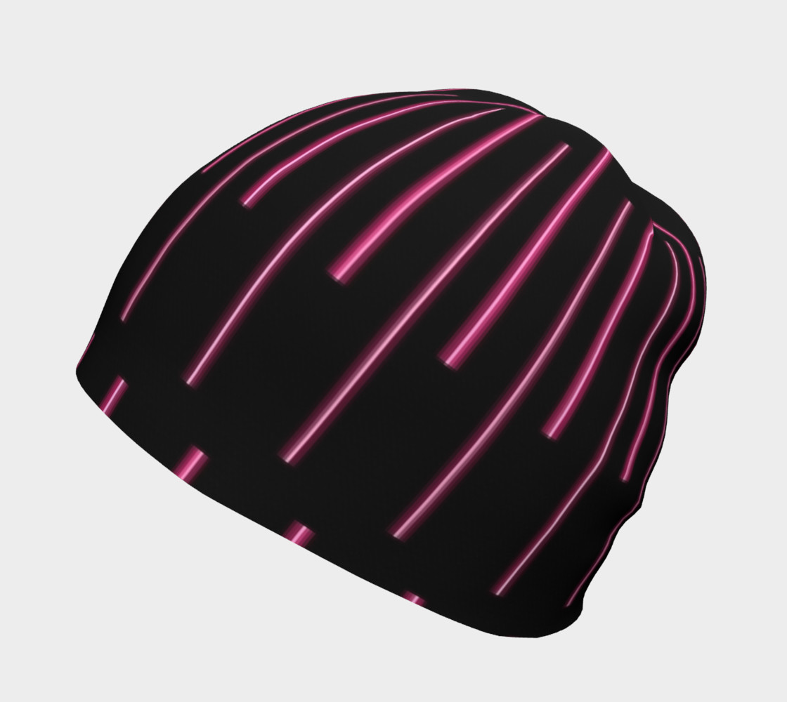 Pink Neon Lines Beanie preview #2