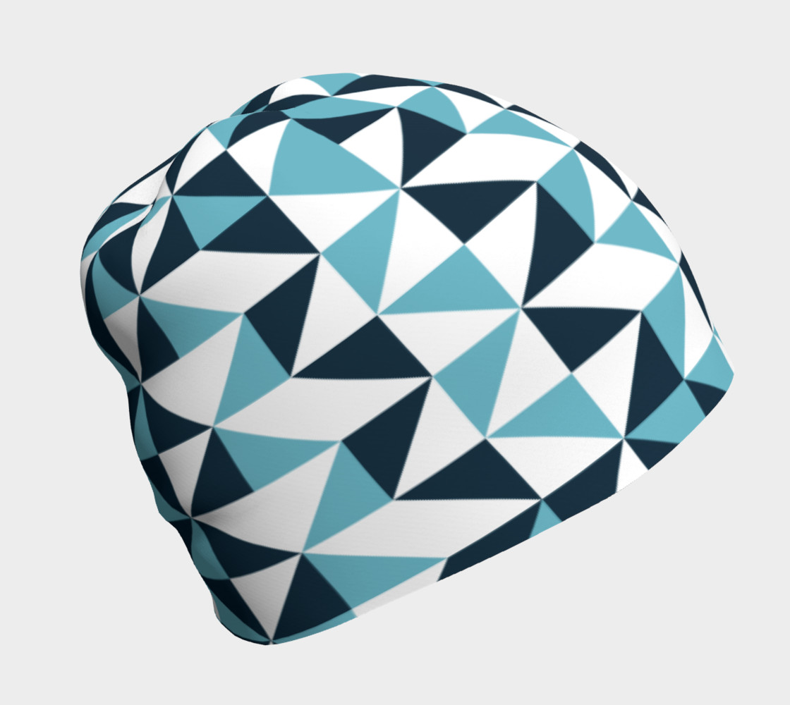 Blue Triangles Beanie preview #1