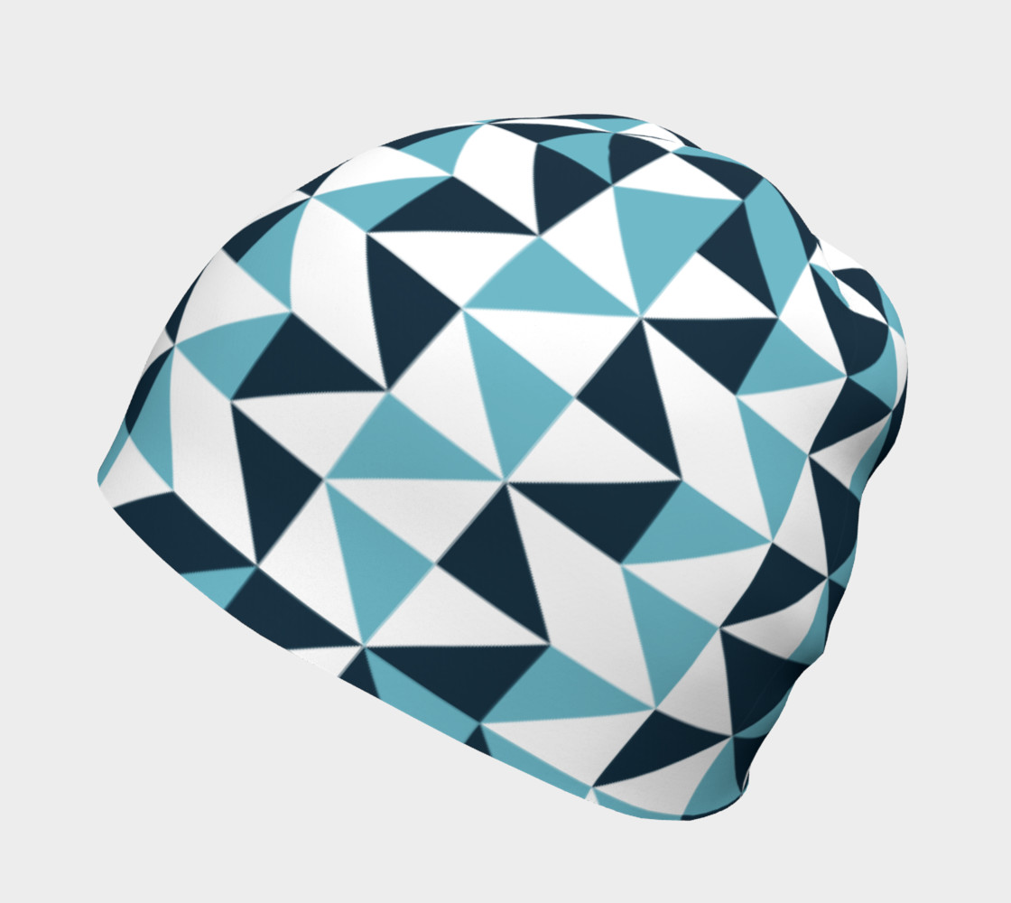 Blue Triangles Beanie preview #2