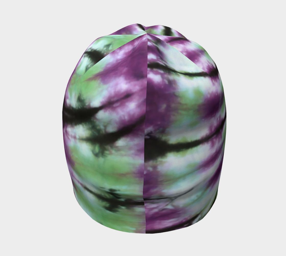 Purple Green Spiral Beanie preview #4