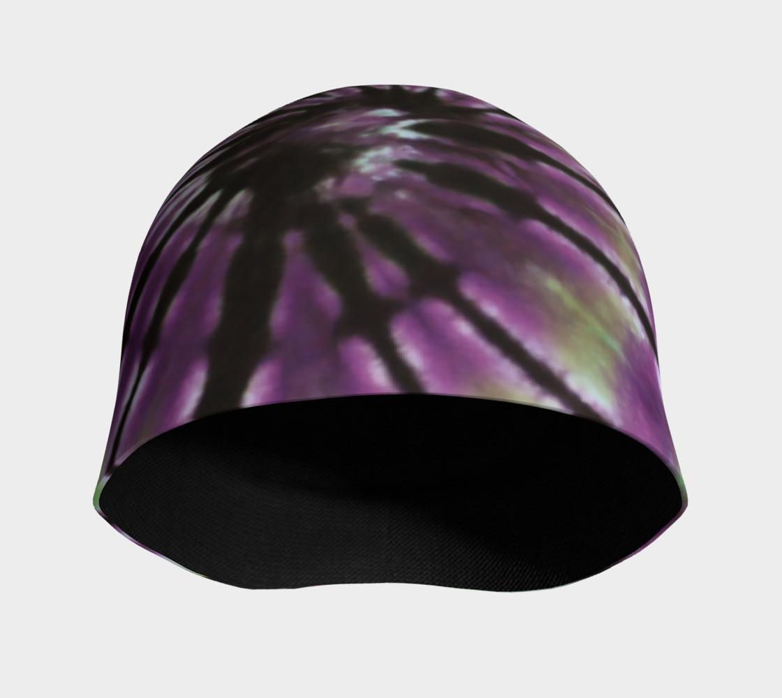 Purple Green Spiral Beanie preview #3