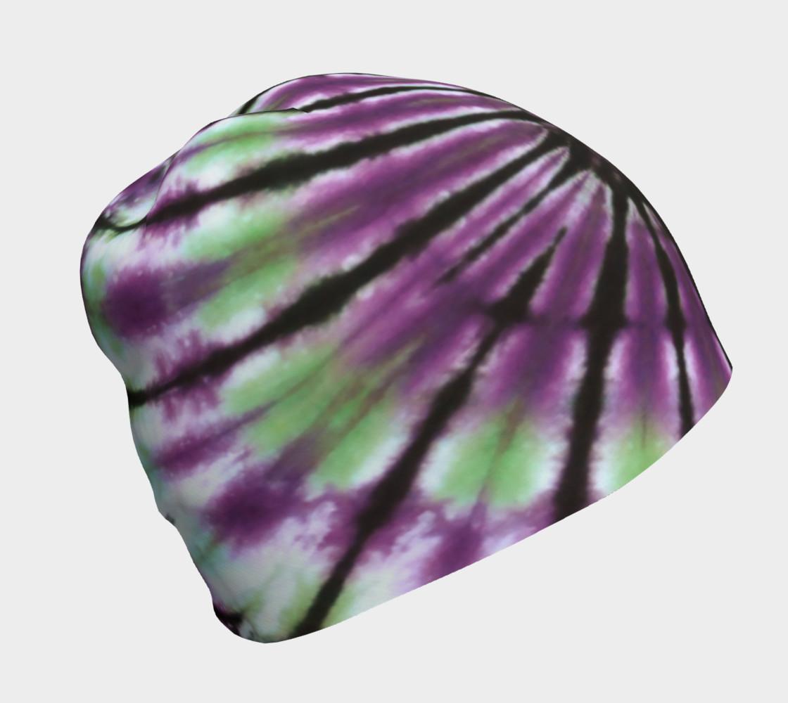 Purple Green Spiral Beanie preview #1