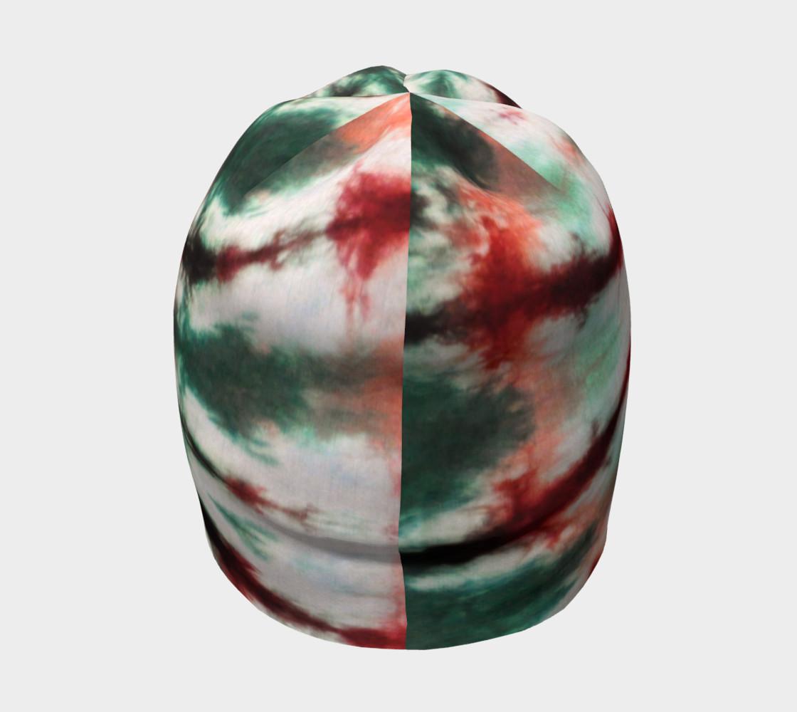 Maroon Green Spiral Beanie preview #4