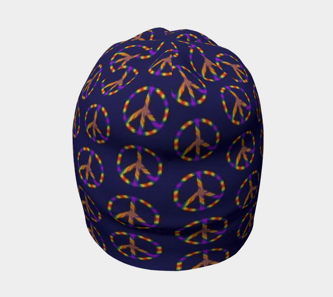 Rainbow Peace Sign Beanie preview #4