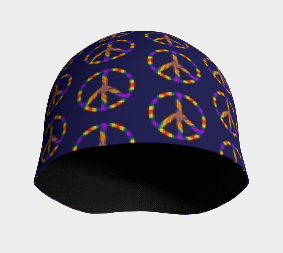Rainbow Peace Sign Beanie preview #3