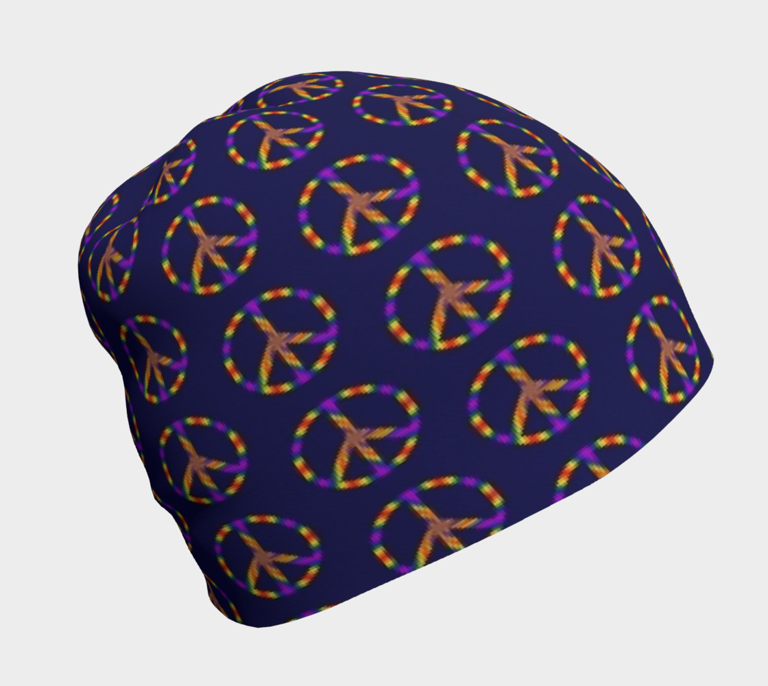 Rainbow Peace Sign Beanie preview #1