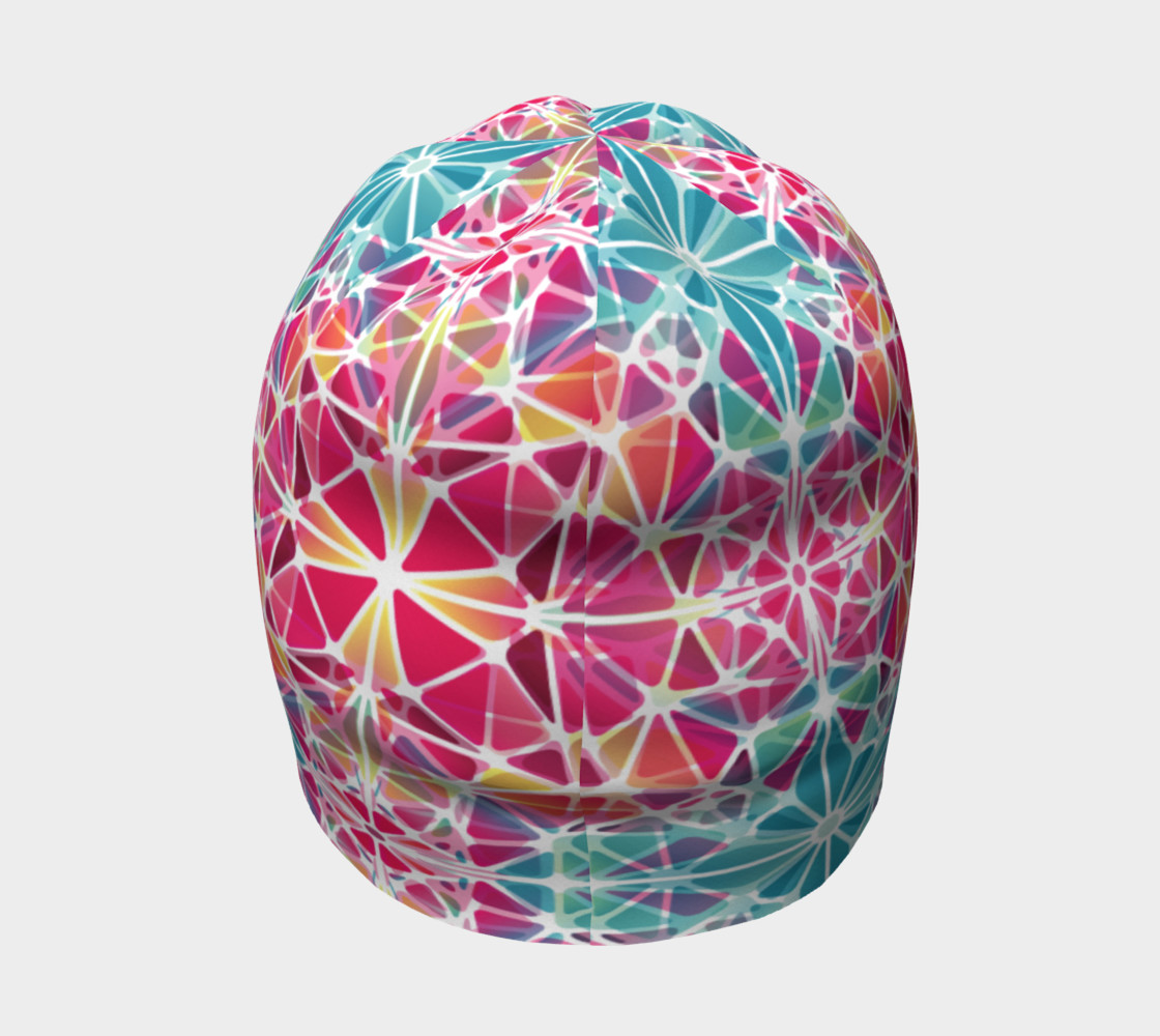 Pink and Blue Kaleidoscope Beanie preview #4