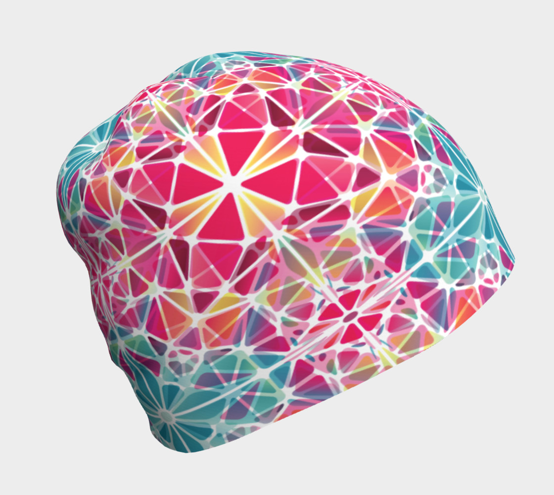 Pink and Blue Kaleidoscope Beanie preview #1