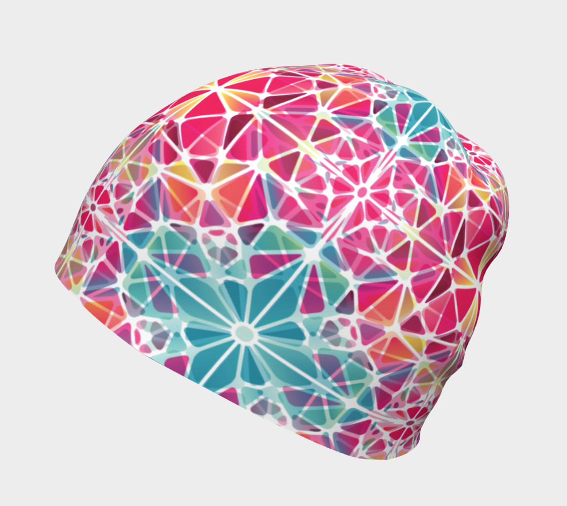 Pink and Blue Kaleidoscope Beanie preview #2