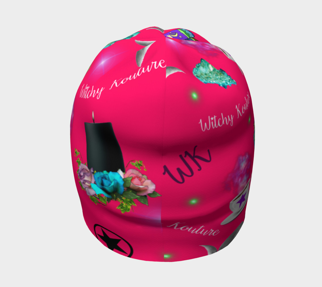WK #ModernWitchLife Pink Print Beanie preview #4