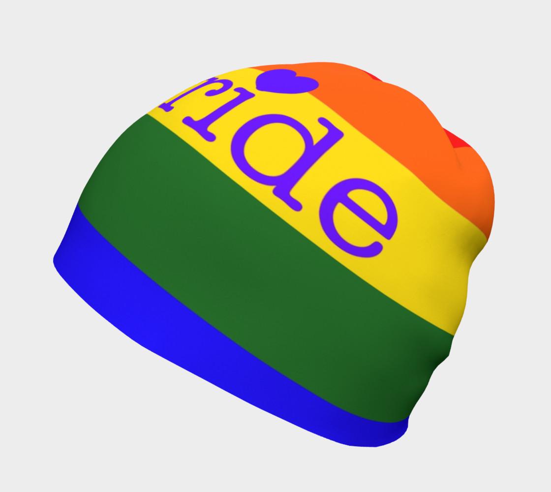 Gay Pride Love Beanie preview #2