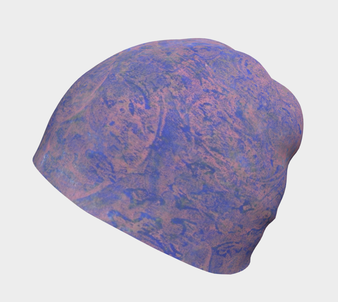Blueand PInk Patterned Beanie preview #2