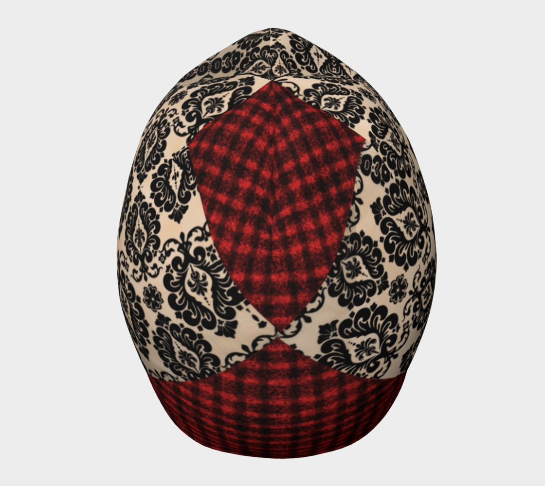 Red Plaid and Lace Goth Beanie by Tabz Jones  preview #5