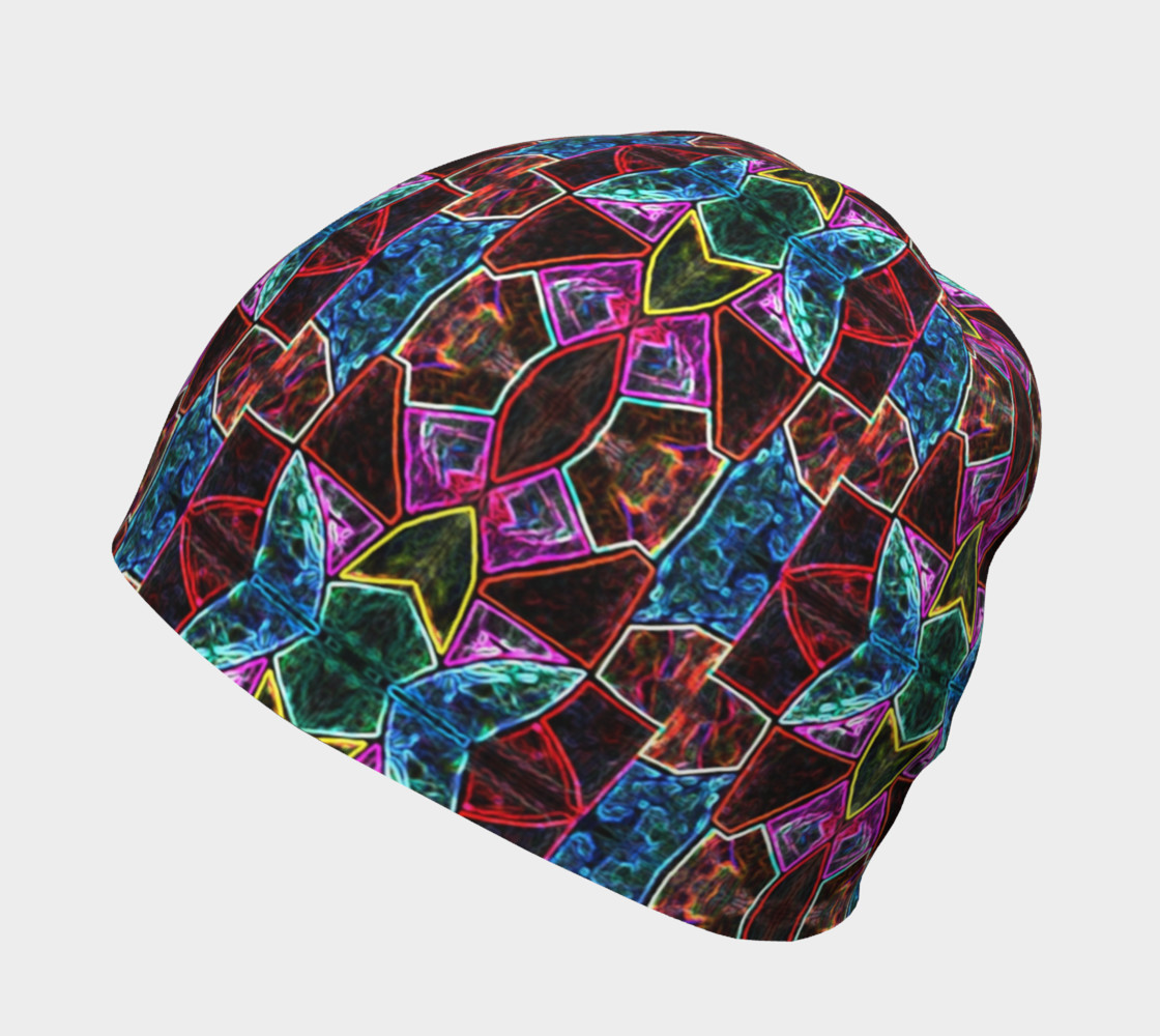 Corinthian Rose Stained Glass Beanie Miniature #3