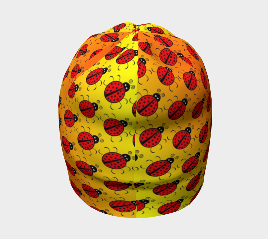 Ladybugs Pattern-Golden Glow Beanie preview #4