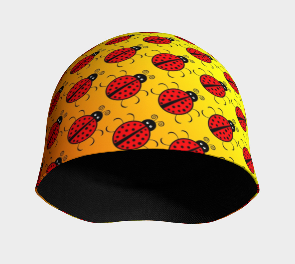 Ladybugs Pattern-Golden Glow Beanie preview #3