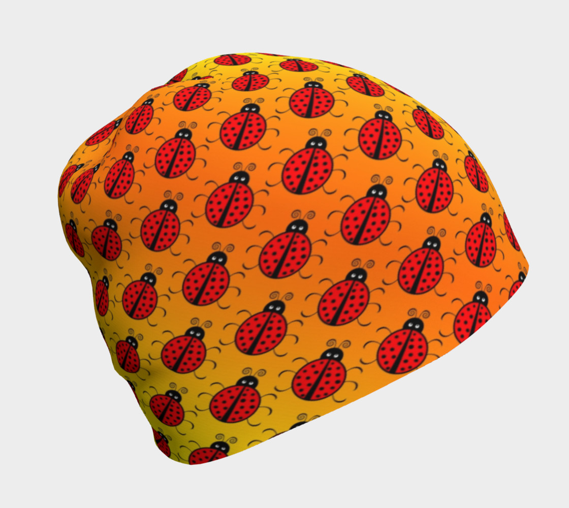 Ladybugs Pattern-Golden Glow Beanie preview #1