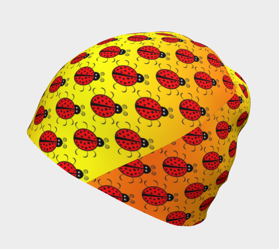 Ladybugs Pattern-Golden Glow Beanie preview #2