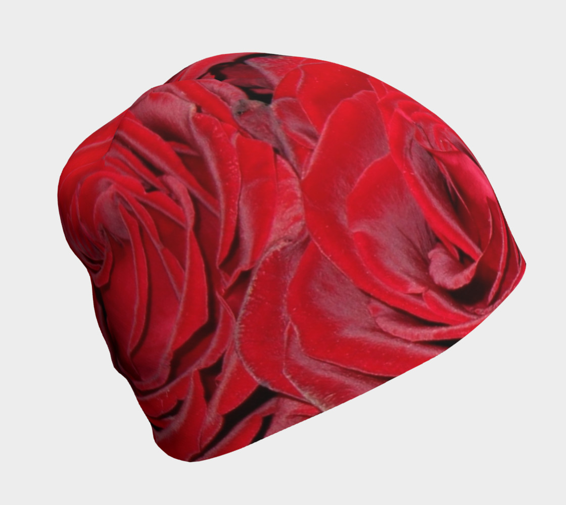 Red Roses Floral Beanie preview #1