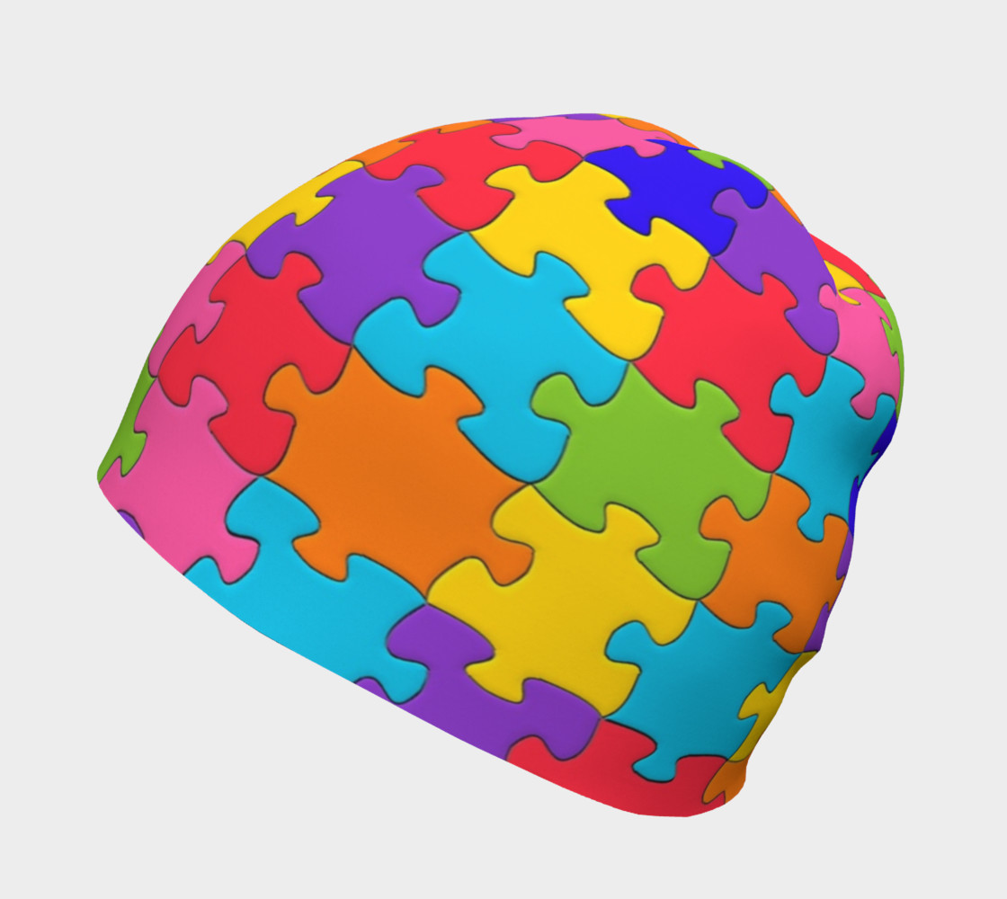 Funny Colorful Jigsaw Puzzle Pieces preview #2