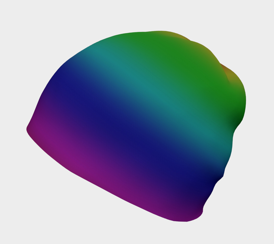 Dark Rainbow Ombre Beanie preview #2