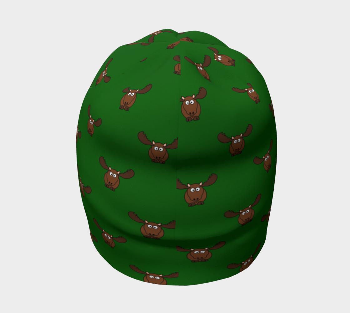 Moose Pattern-Avocado Beanie preview #4