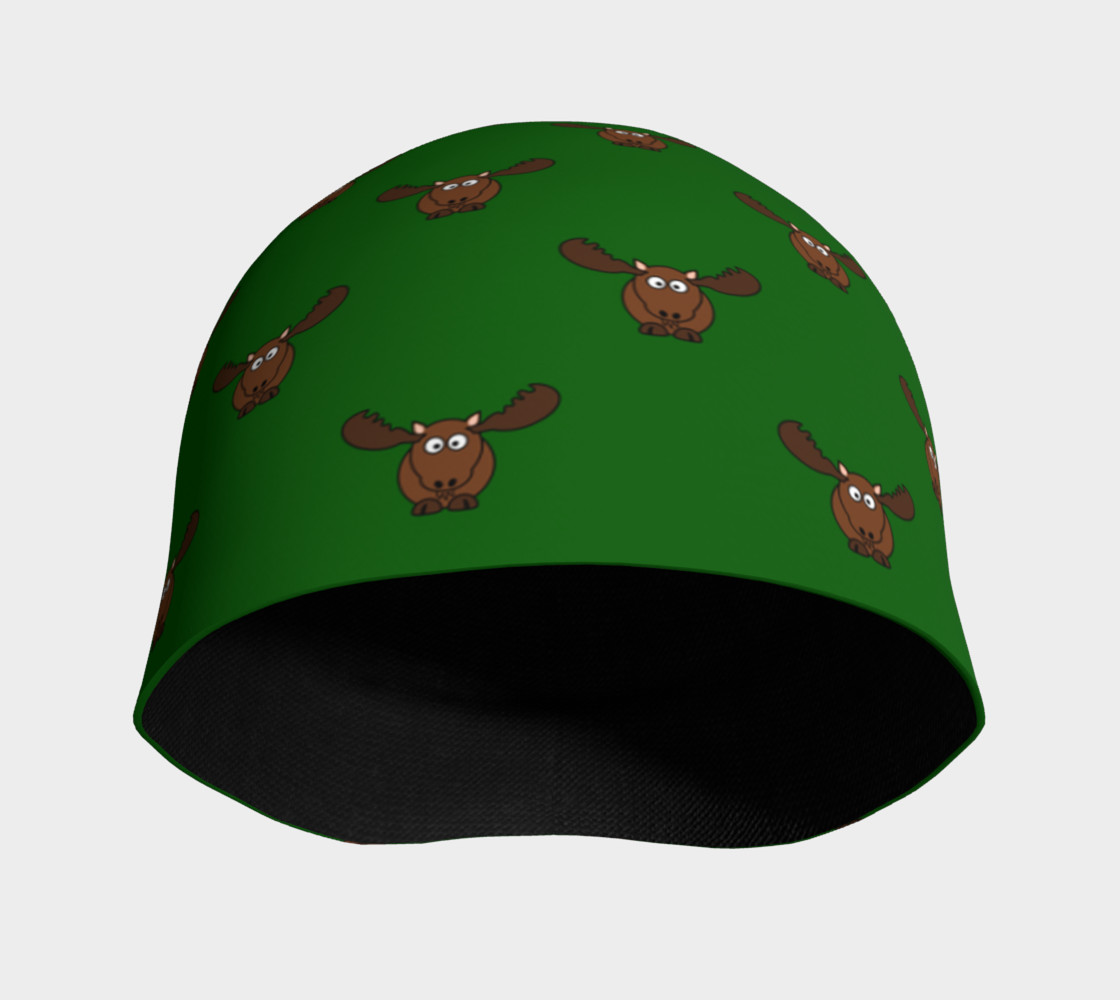 Moose Pattern-Avocado Beanie preview #3