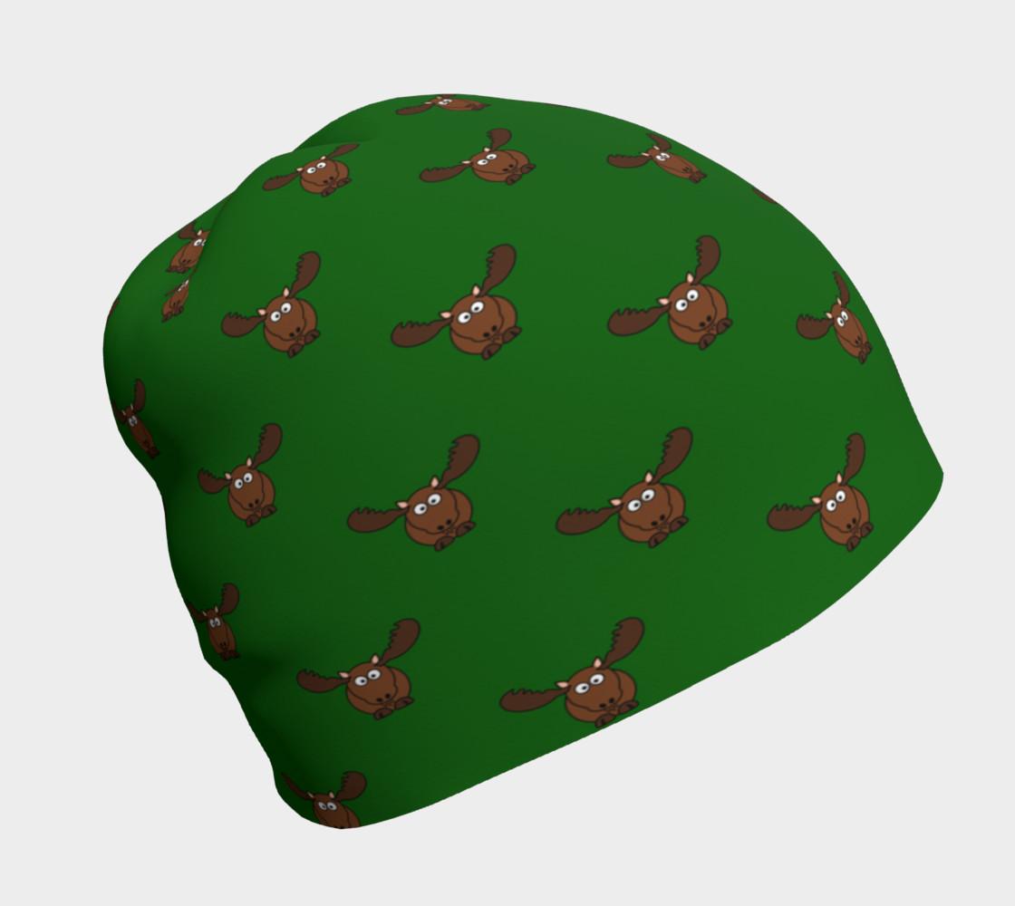 Moose Pattern-Avocado Beanie preview #1