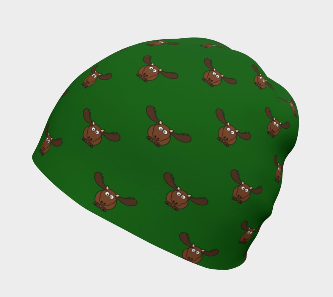 Moose Pattern-Avocado Beanie preview #2