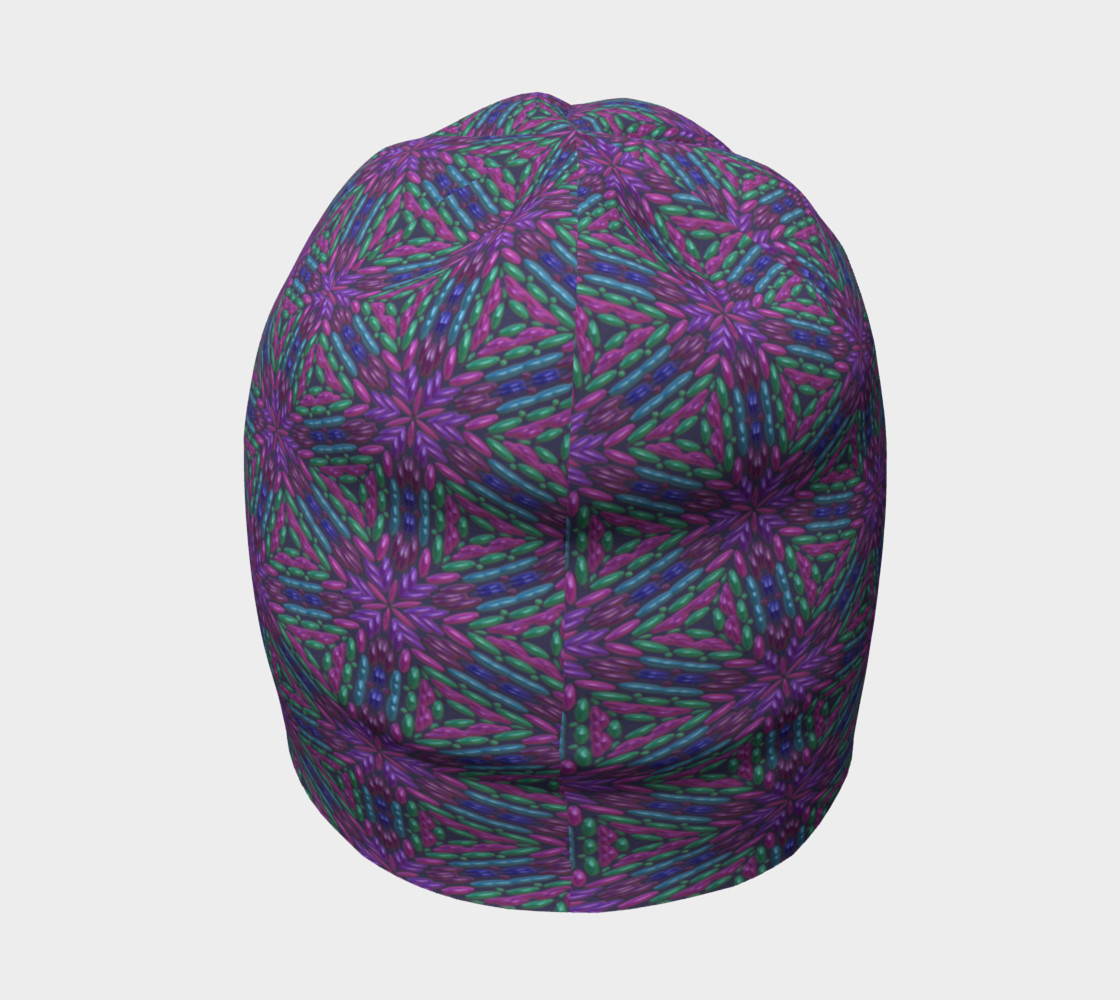 Purple Beads Beanie preview #4