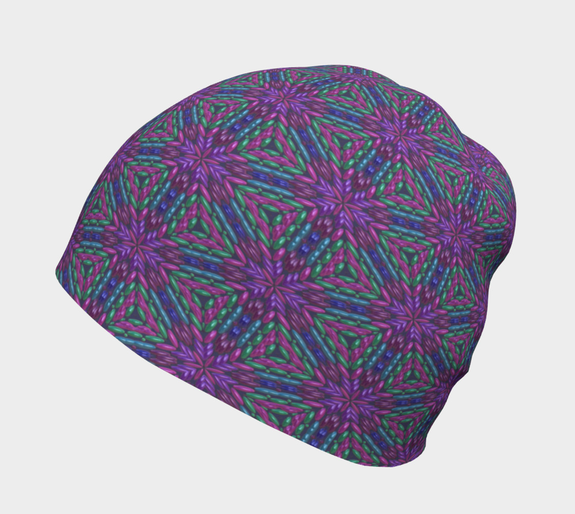 Purple Beads Beanie preview #2