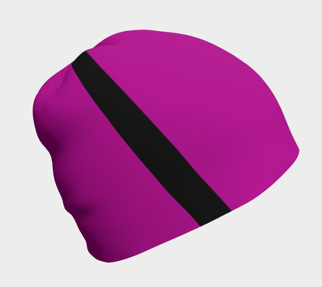Purple with Black Side Stripes Beanie preview #1