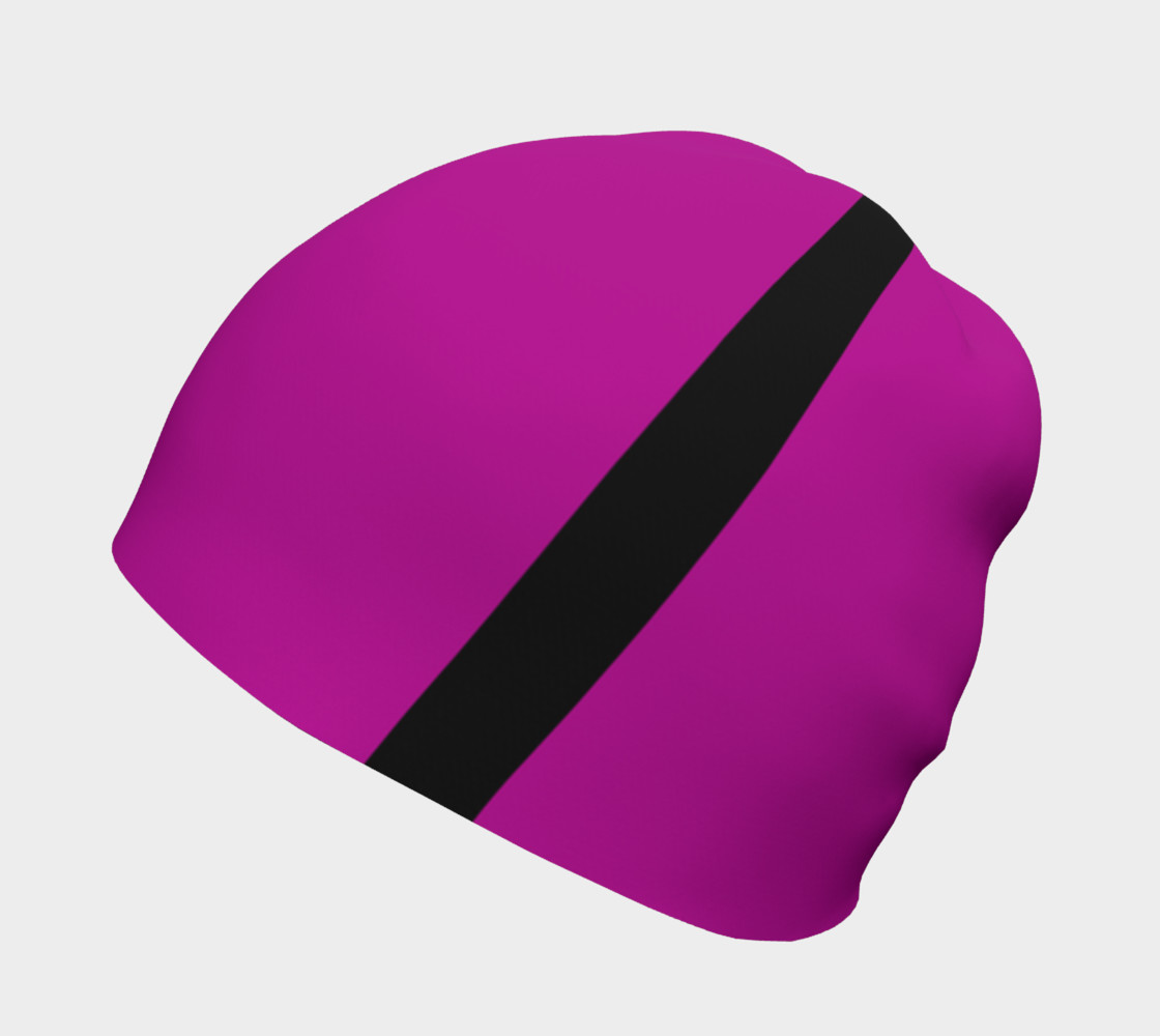 Purple with Black Side Stripes Beanie preview #2