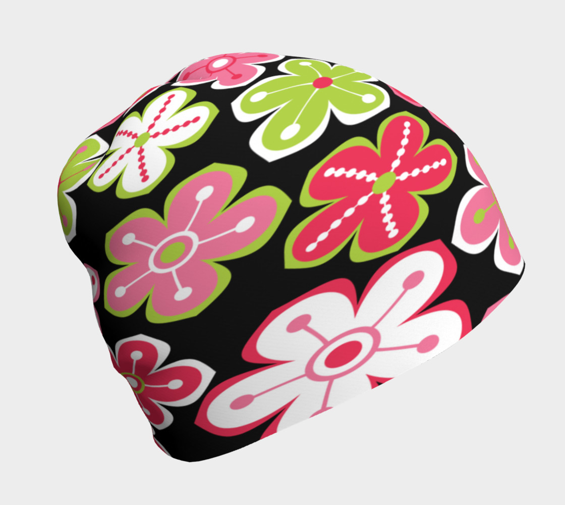 Candy Colored Flowers Beanie Miniature #2