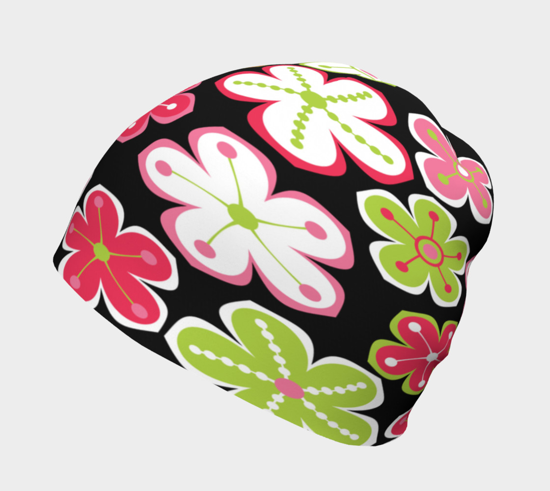 Candy Colored Flowers Beanie Miniature #3