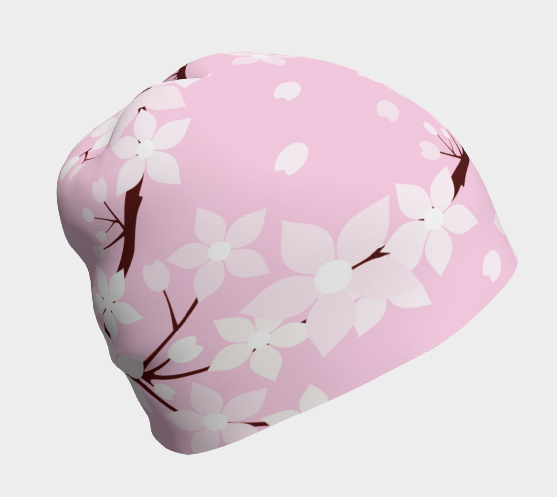 Cherry Blossom Time Beanie  3D preview
