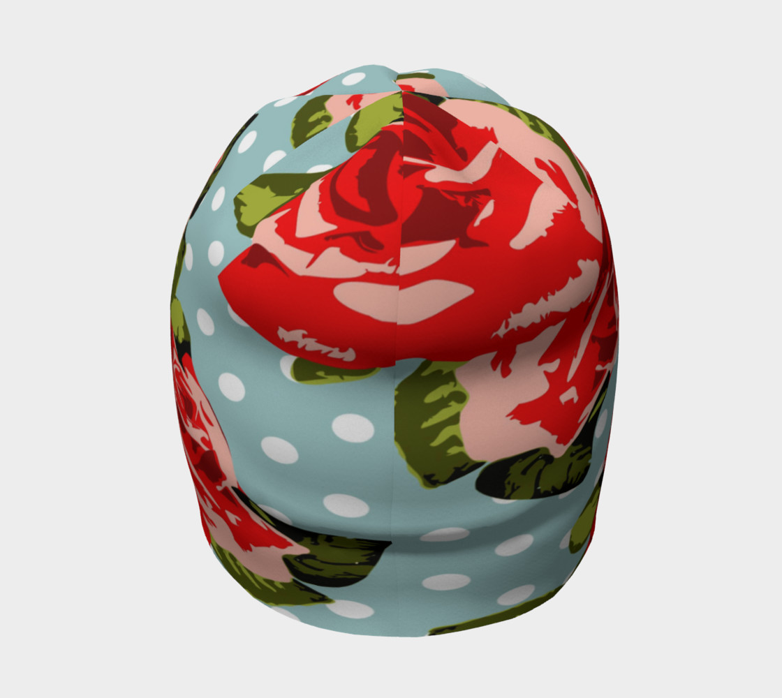 Red Roses On Polka Dots Beanie preview #4