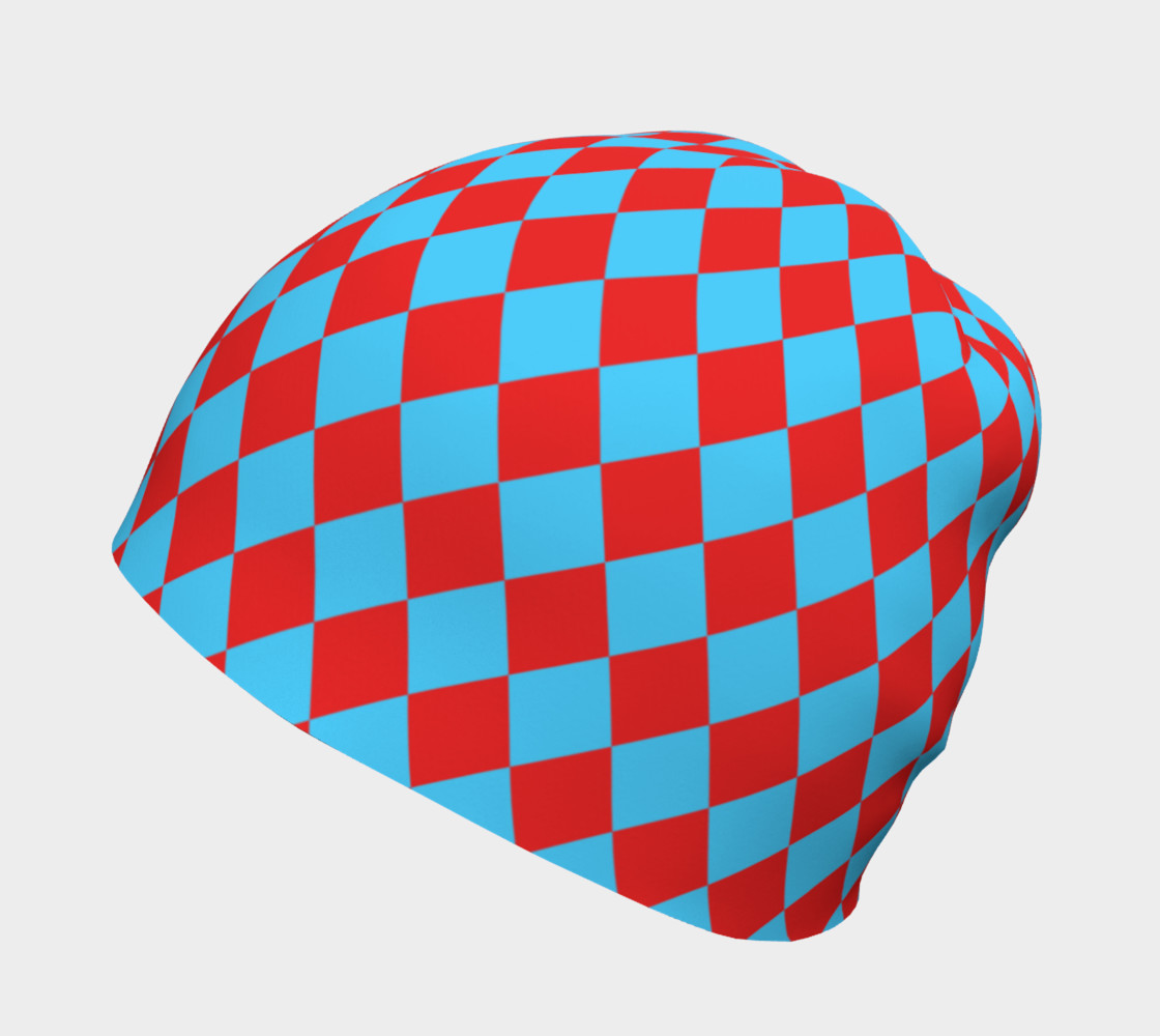 Red and Blue Diamonds Beanie preview #2