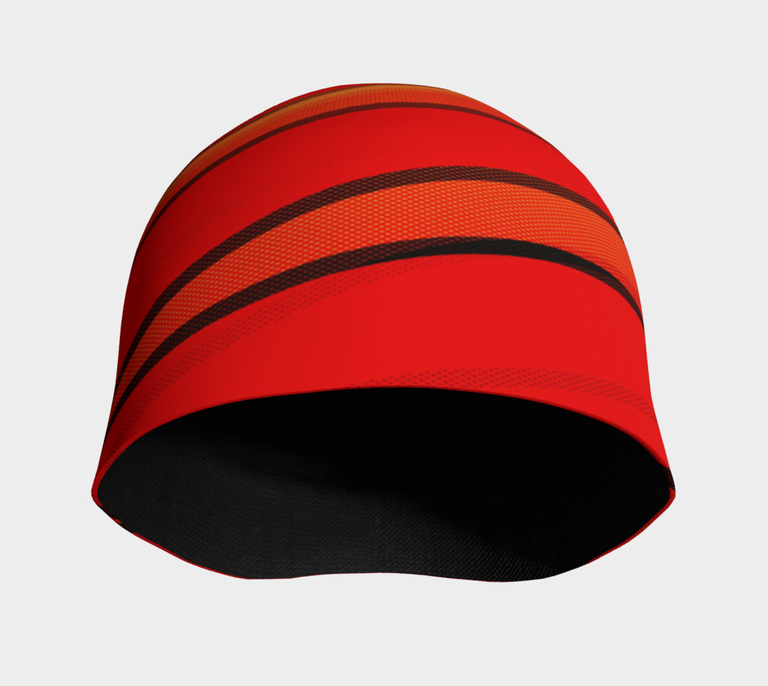 Wrap Me Up in Red and Orange Beanie preview #3