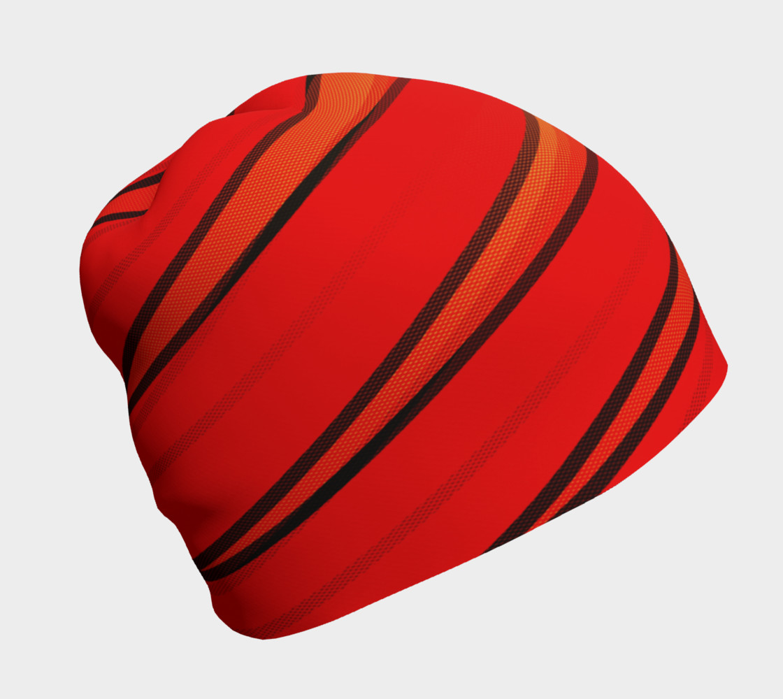 Wrap Me Up in Red and Orange Beanie preview #1