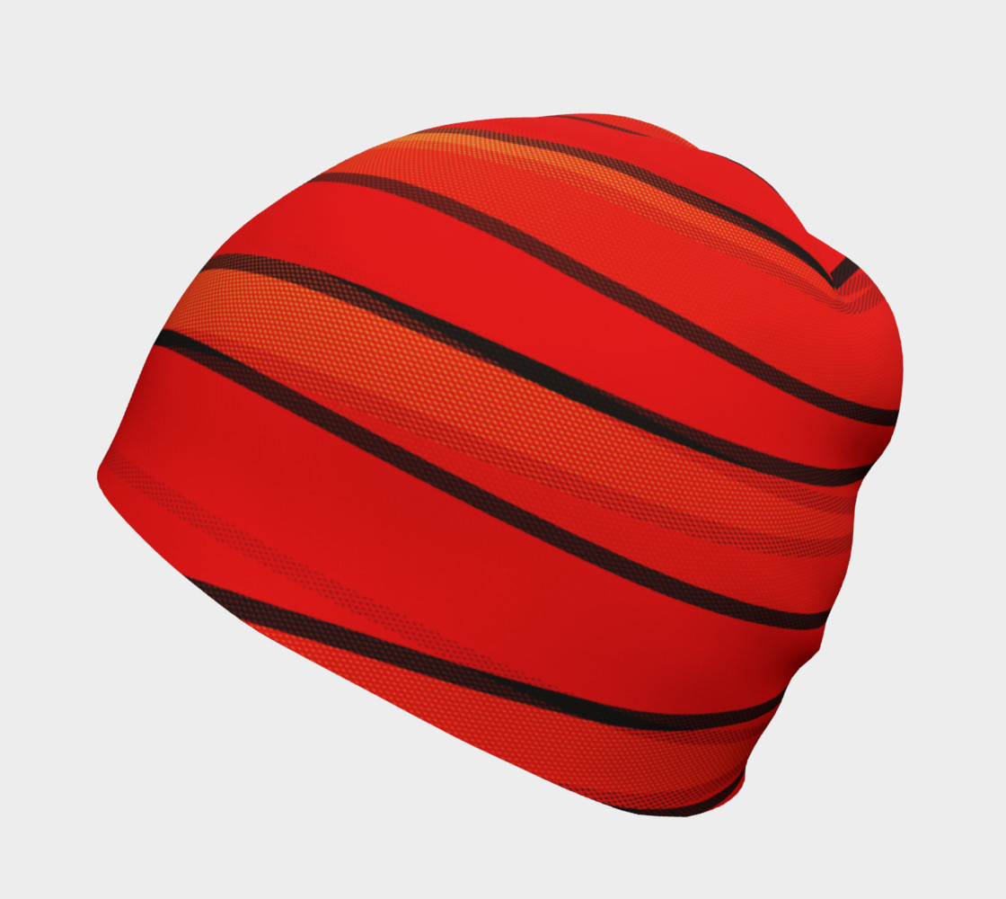 Wrap Me Up in Red and Orange Beanie preview #2