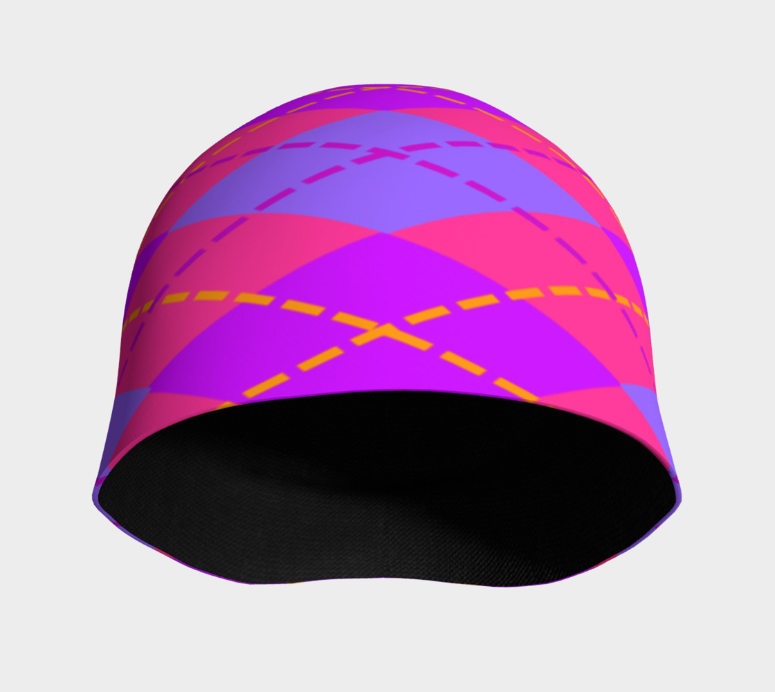 Hot Pink Argyle Beanie preview #3