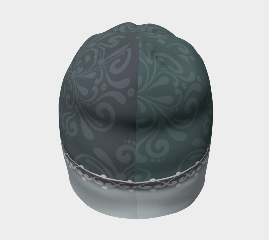 Blue Damask Beanie preview #4
