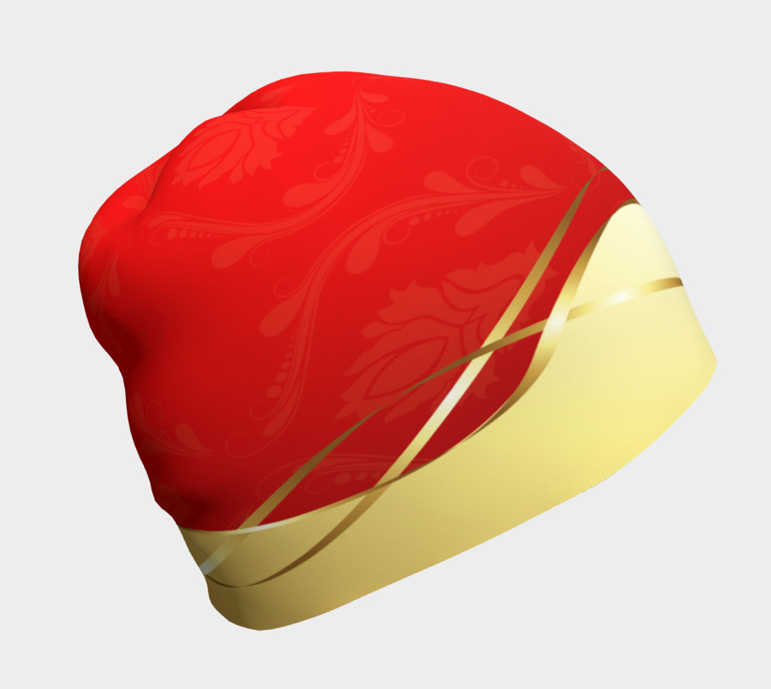 Red With Gold Beanie thumbnail #2