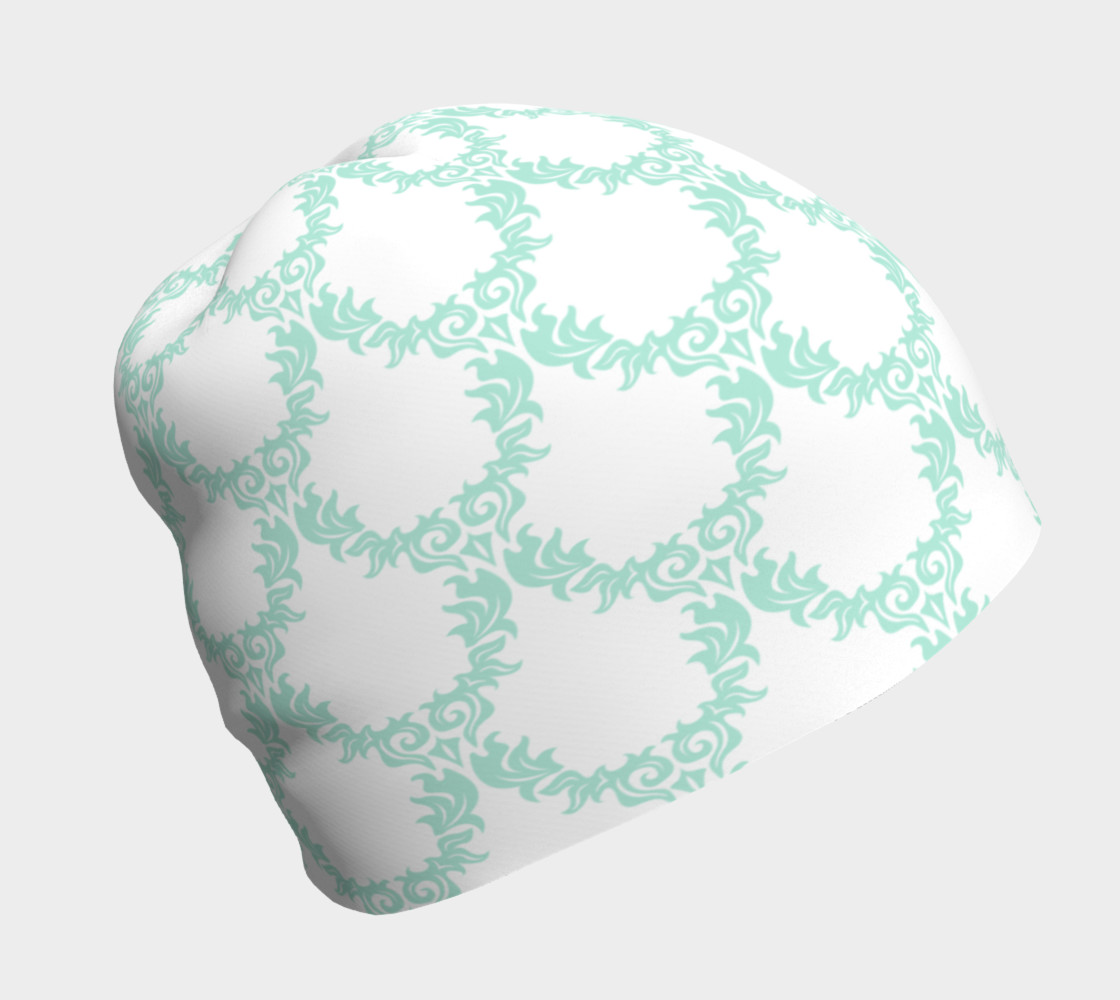 Green and White Trellis Beanie preview #1