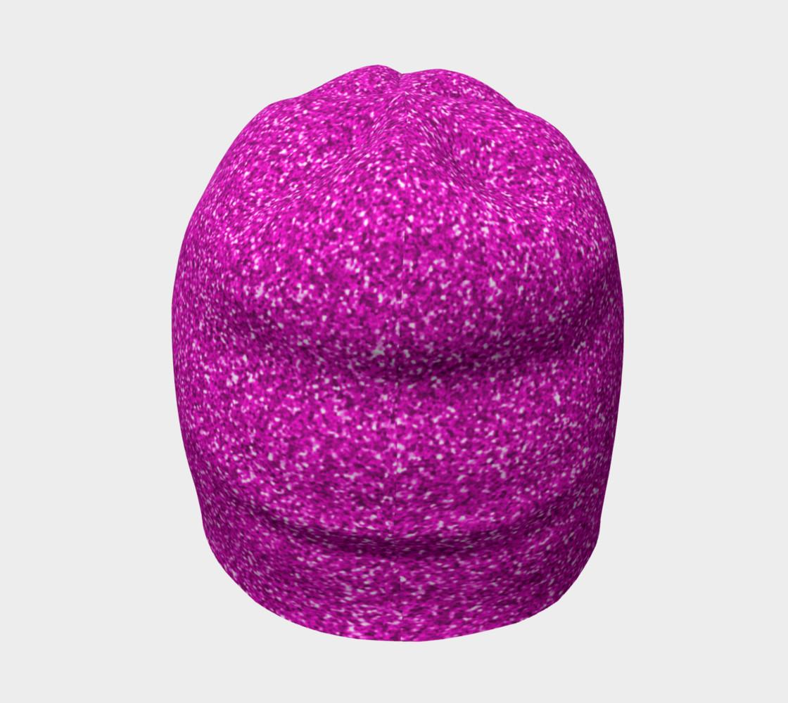 Rich Fuchsia Glitter Beanie   preview #4