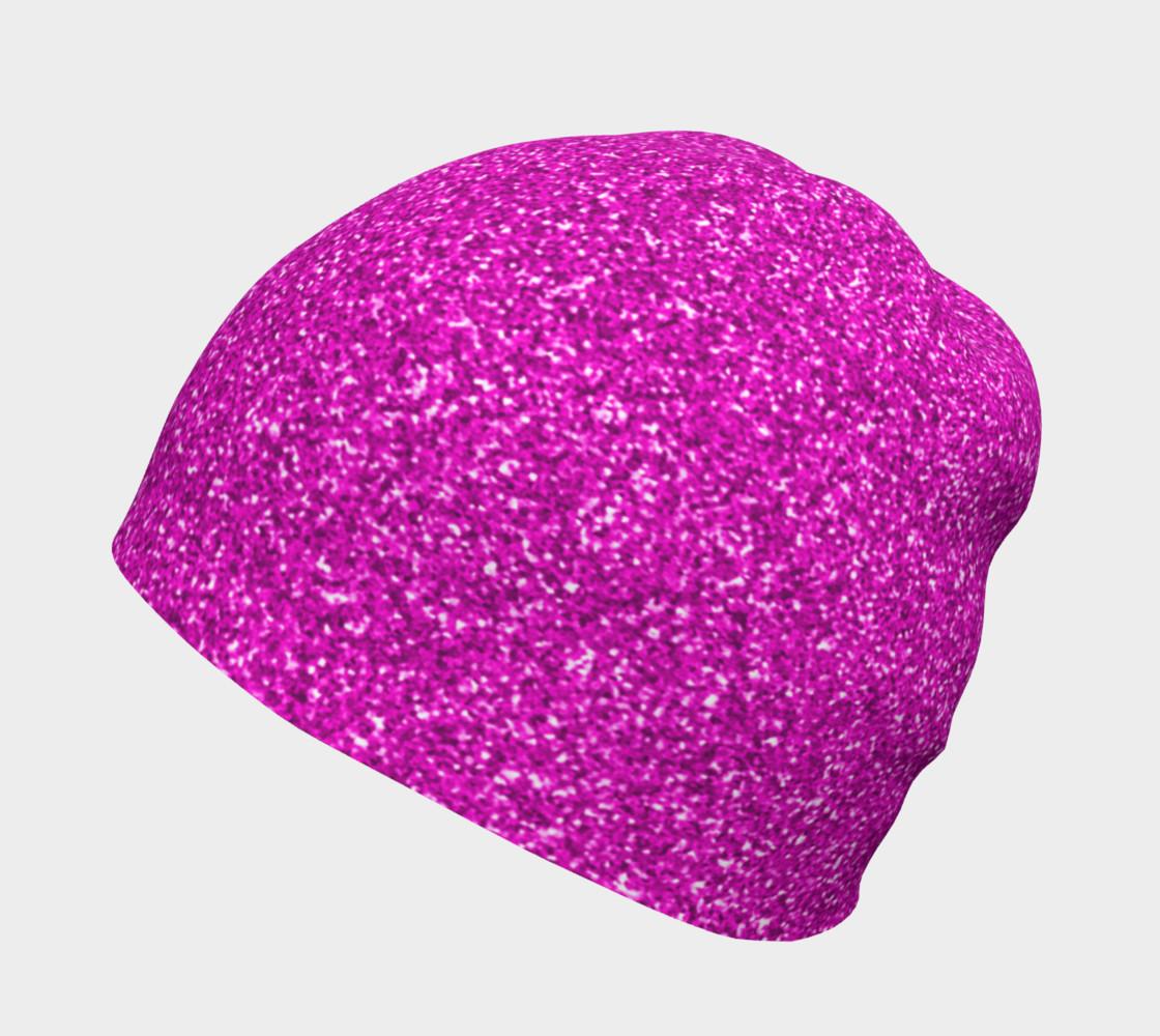 Aperçu de Rich Fuchsia Glitter Beanie   #2
